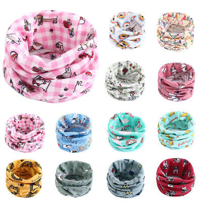 Toddler Girls Boys Scarf Cotton Children Kids Soft Scarves Neckerchief Warmer VT