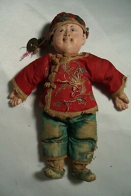 Antique Chinese Composition Doll A