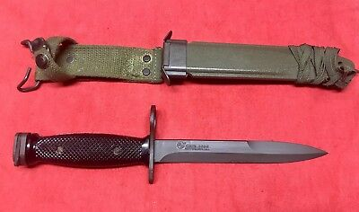 Colt Marked M7 Bayonet 62316 With Correct M8A1 Crackle Scabbard