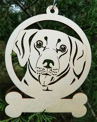 Labrador dog ornament wooden Christmas Gift