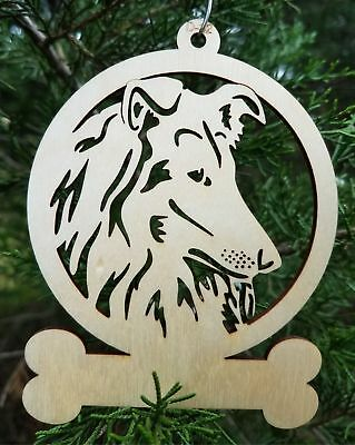 Collie Wooden dog ornament  Christmas Gift