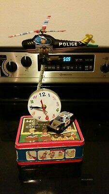 Antique vintage toy clock homemade
