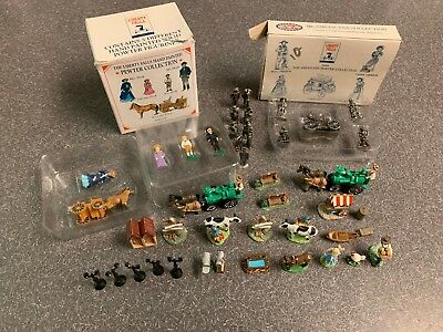 Lot of 45 Liberty Falls Colorado Pewter Figures Great Shape a few boxes