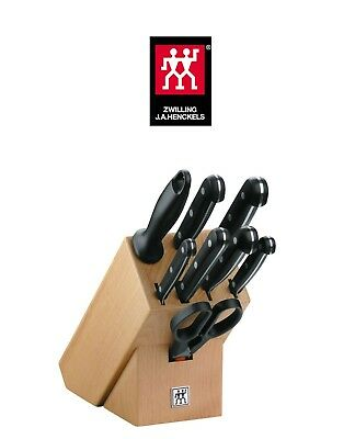 Zwilling Twin Gourmet 31665-000 9-Piece Knife Set in Knife Block - NUEVO - NEW -