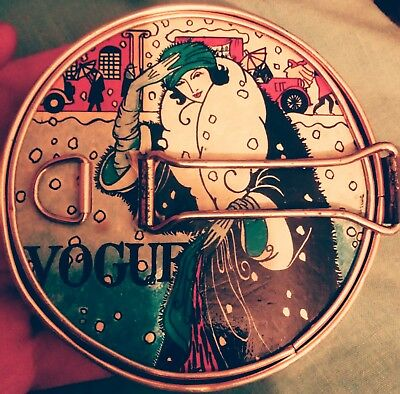 Rare Vintage Vogue Compact Mirror Vanity Pocket Make Up Mirror Classic Item
