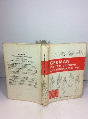 German Military Uniforms and Insignia 1933-1945 Hard Cover Book 1967 Dust Jacket