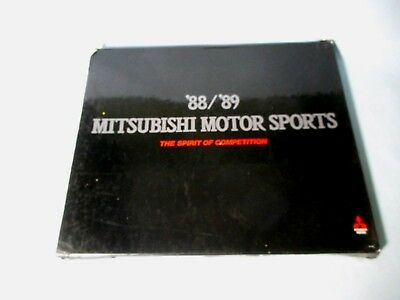 '88 / '89 Mitsubishi Motor Sports - The Spirit Of Competition Rally Yearbook Hc