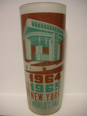 Vintage 1964 1965 New York World's Fair Port Authority Building Drinking Glass