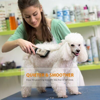 Electric Pet Animal Cat  Dog Hair Trimmer Shaver Razor Grooming Quiet Clipper