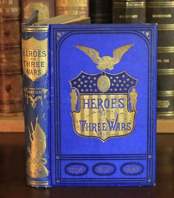 1879 HEROES OF THREE WARS mexican CIVIL WAR battles ILLUS union army DECORATIVE