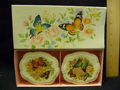 Vintage Avon Summer Butterflies Two Special Occasion Fragranced Soaps w/Box