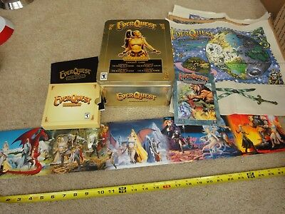 EVERQUEST PC GOLD Edition, 5 disc set with collectible cloth maps and tin   Nice!