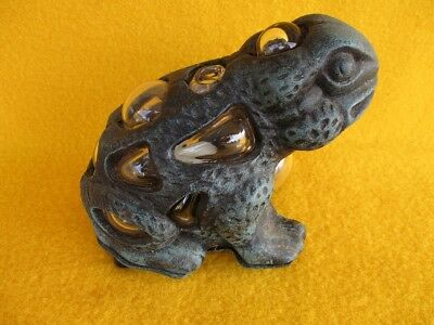 Cast Iron Frog Toad Bull Garden Ornament Tealight Candle Pond Kermit Collector