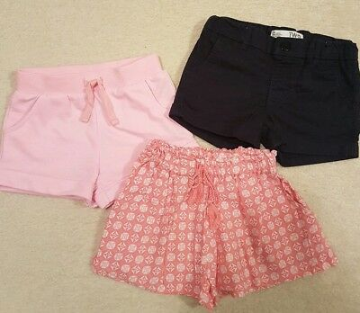 COTTON ON , H&T, EMERSON Girls Navy Pink Shorts Size 2