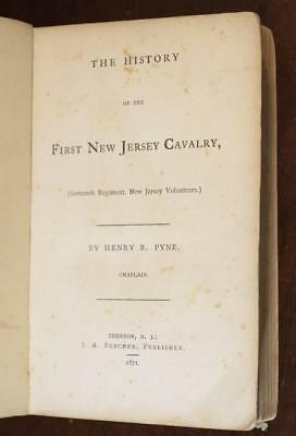 1871 civil war HISTORY OF THE FIRST NEW JERSEY CAVALRY 16th Union NJ battle RARE