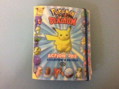 Pokemon Stadium Action 3D's Complete Collector's Record & Cards
