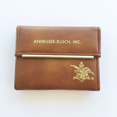 Anheuser-Busch 1981 Sales Convention Faux Leather Case Playing Cards Advertising
