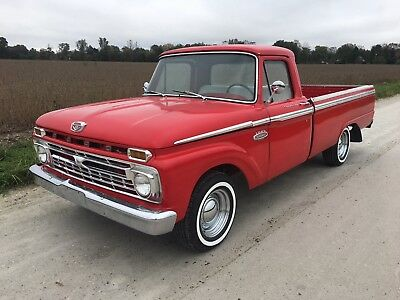 1966 Ford F-100  Ford F-100 F100 Long Bed Pickup Truck
