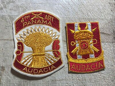 1930s/1940s/WWII? 2 US ARMY PATCHES-2nd FA Field Artillery Regt Panama ORIGINALS