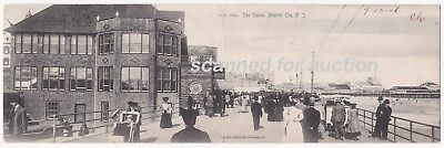 c1906 PANORAMIC Postcard / Mailcard - THE CASINO, ATLANTIC CITY, NEW JERSEY