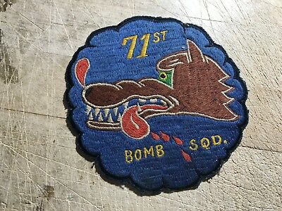 WWII/WW2/Post? US AIR FORCE PATCH-71st Bomb Squadron-ORIGINAL USAAF USAF!