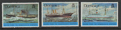 Dominica - Historical Ships - MNH