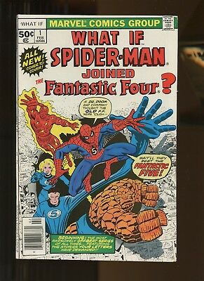 What If? (vol.1) 1 VF+ 8.5 *1 Book* 1977 Marvel! Spider-Man! Fantastic Four!