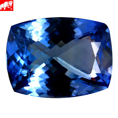 """7.00 ct """"GFCO"""" CERTIFIED 100% NATURAL VIOLET-BLUE UNHEATED TANZANITE"""