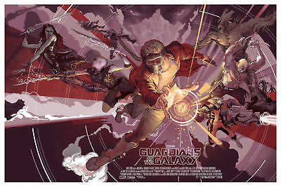Rich Kelly Guardians of the Galaxy Variant Mondo Print Poster Marvel