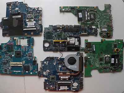 Lot of 13 laptop motherboards for parts or repair - non tested- as is