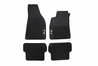 Genuine Audi Accessories 8E1061450041 Rubber All-Weather Floor Mat, Set of 4