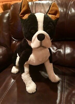 Large 21 Life Size Boston Terrier Plush Stuffed Animal Dog