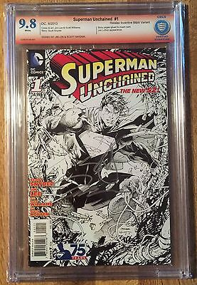 SUPERMAN UNCHAINED #1 Sketch VARIANT 1:300 CBCS 9.8 signed Lee and Snyder
