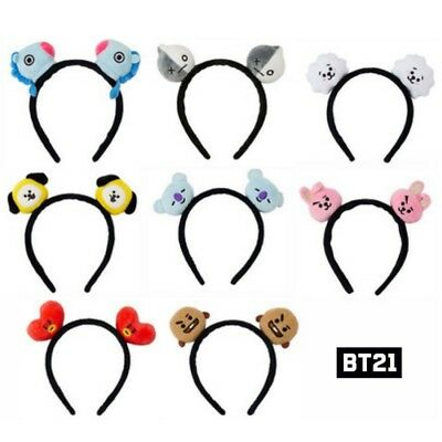 BTS BT21 Official Authentic Goods Plush Hair Band 8Characters +Tracking Num