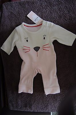 M&S Onsie With Animal Face Front Pink Mix Newborn BNWT