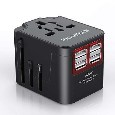 Universal Travel Power Adapter Worldwide All in One 4 USB Charging Ports