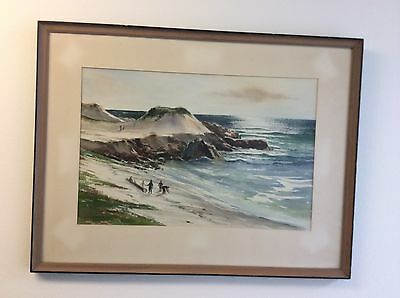 Original Signed Watercolor  Monterey  By James Dalton Listed California Artist