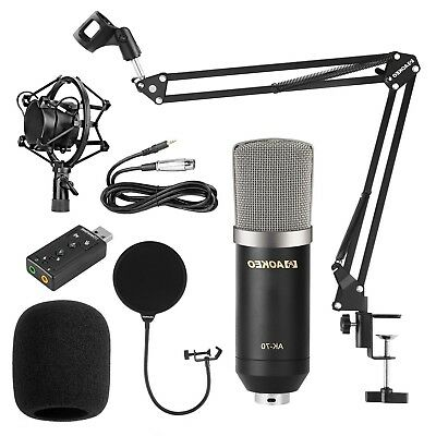 Streaming Microphone Podcast Recording Youtube Condenser Studio Professional NEW