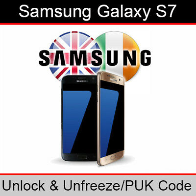 Samsung Galaxy S7 Unlock & PUK Code (ALL UK/Ireland Networks Supported)