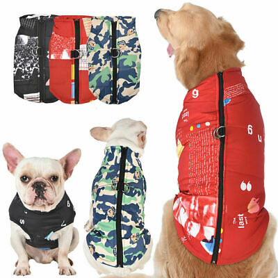 Waterproof Warm Coat Pet Small Medium Large Dog Puppy Zip Jacket Clothes Apparel