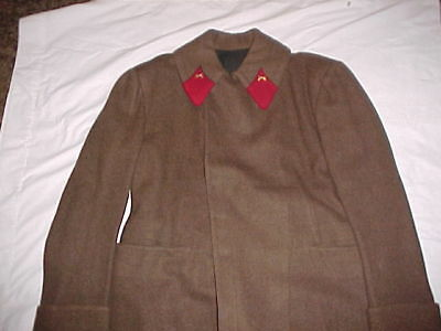 """ORIGINAL, RARE & MINT Wool Red Army Long Overcoat From """"Dr. Zhivago"""" Wardrobe"""