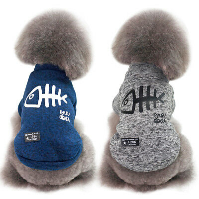 Soft Fleece Padded Dog Jumper Clothes Chihuahua Coat Jacket Puppy Cat Sweater