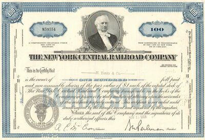 100 x New York Central Railroad, 1950-1960ies, blue and brown