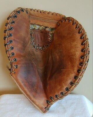"Vintage ""COOPER WEEKS"" 25th Anniversary Leather Stamped First Base Glove"