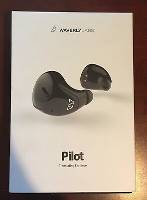 Waverly Labs Pilot Real-Time Language Translating Earpiece !Never Used!