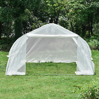 Walk-In Greenhouse Portable 11'x10'x7' Solid Tunnel Green House Plant Gardening
