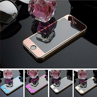 Front Mirror Tempered Glass All Screen Cover Screen Protector iPhone SE/5s/6s/6+