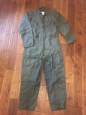 US Military Coveralls CWU-27/P Type 1 Class 1 Green Flyer's Flight Suit 42 Reg