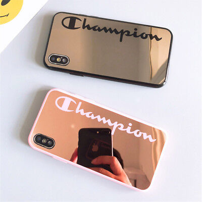 New Couple Champion Mirror Soft Back Case For iPhone X XR XS Max 6 6s 7 8 Plus