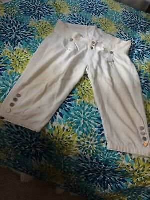 White Fall Front Breeches Size 40